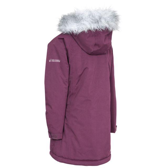 Fame Girls' Waterproof Parka Jacket in Purple