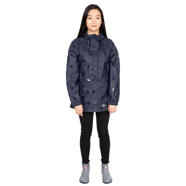 Farewell Women's Printed Waterproof Jacket in Navy