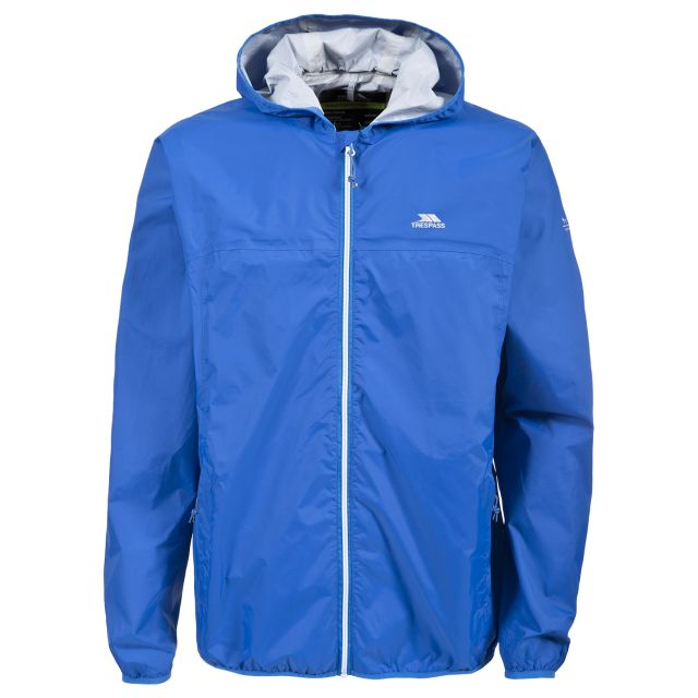 Trespass Adults Packaway Jacket in Blue Fastrack