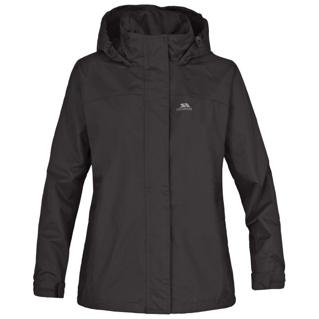Nasu Girls' Waterproof Jacket in Black