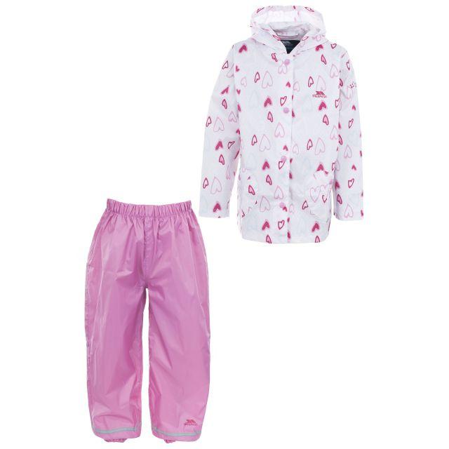 Moonbeam Girls Pink Waterproof Rain Set in Pink