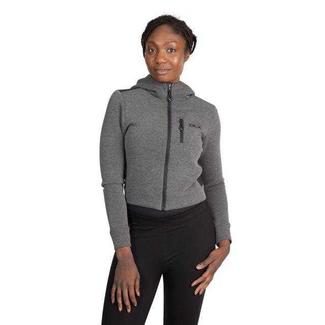 Fernanda Women's DLX Cropped Full Zip Hoodie in Light Grey
