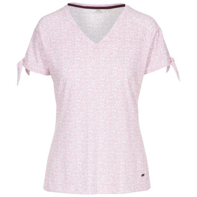 Fernie Women's V-Neck T-Shirt in Light Pink