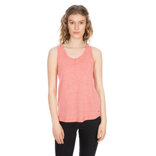 Fidget Women's Sleeveless T-Shirt in Peach