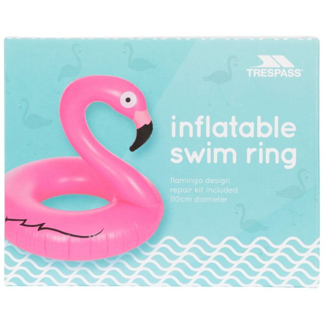 Inflatable Flamingo Novelty Swim Ring in Pink
