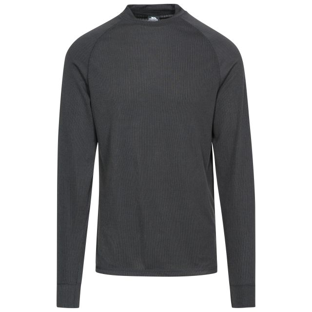 FLEX360 Unisex Long Sleeve Thermal Top in Black