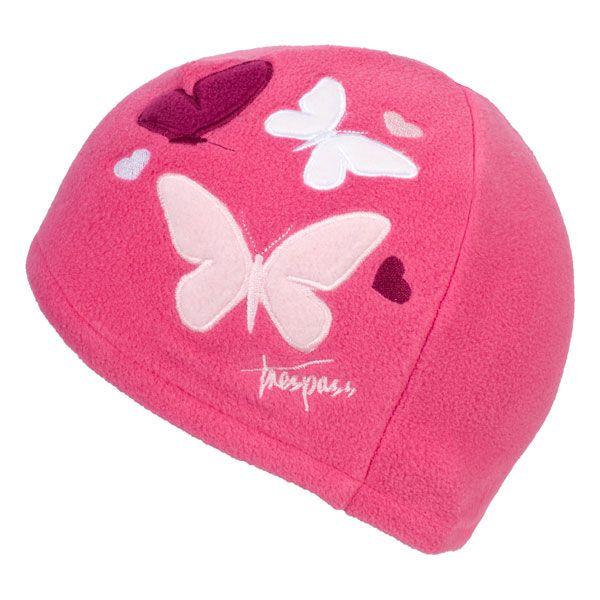 Flooty Kids' Fleece Beanie Hat in Pink