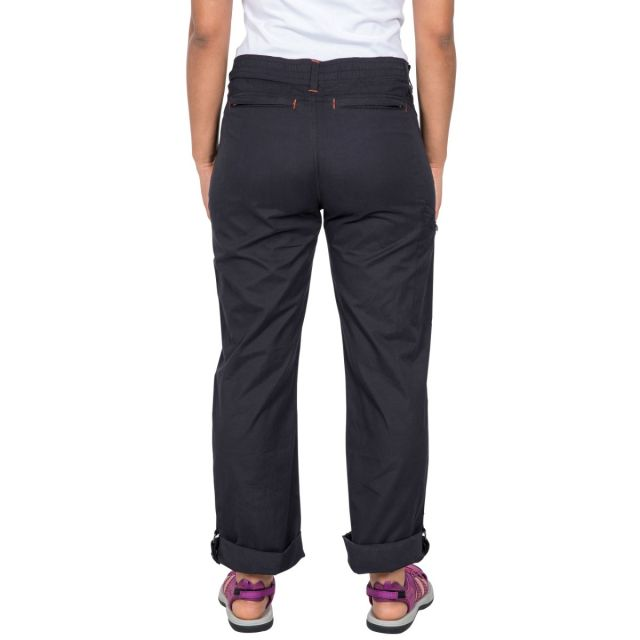 Footfall Women's Cargo Trousers in Black