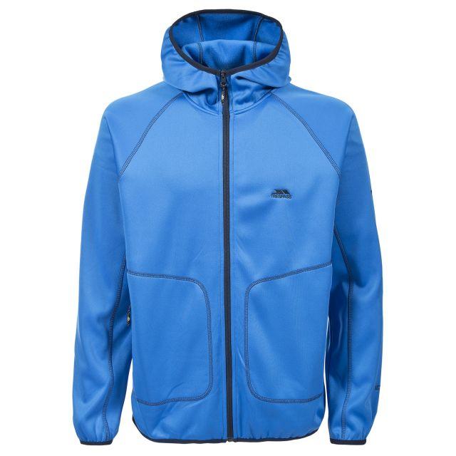 Franko Mens Full Zip Fleece Hoodie in Blue