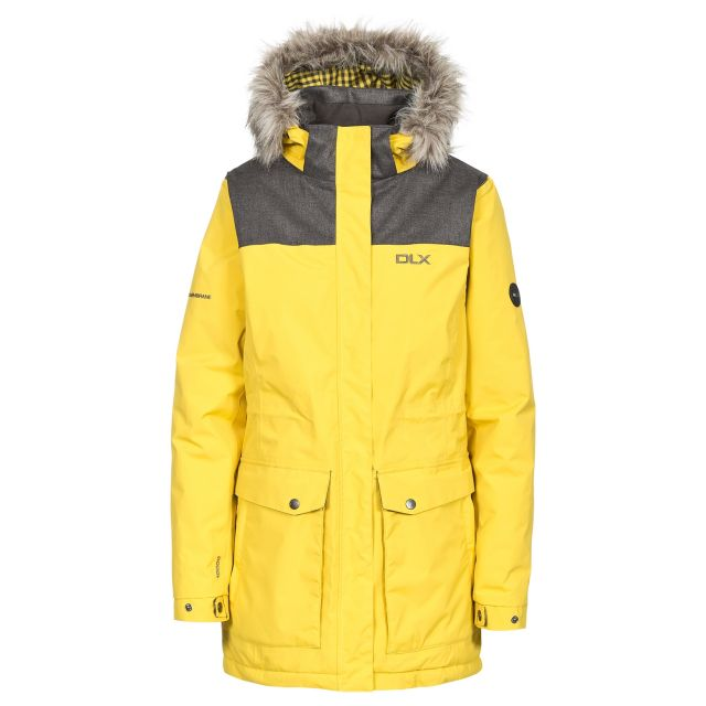 Garner Women's DLX Waterproof Parka Jacket in Yellow