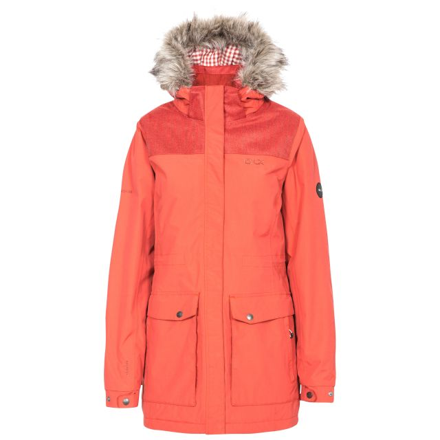 DLX Womens Waterproof Parka Jacket Garner in Orange