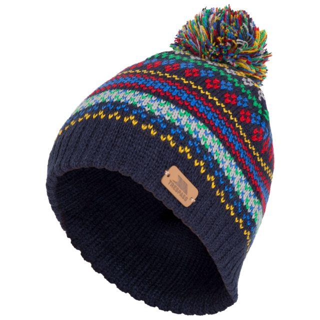 Garrity Kids' Pom Pom Beanie Hat in Navy