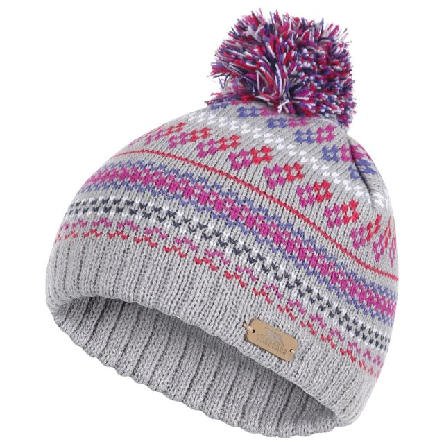 Garrity Kids' Pom Pom Beanie Hat in Grey