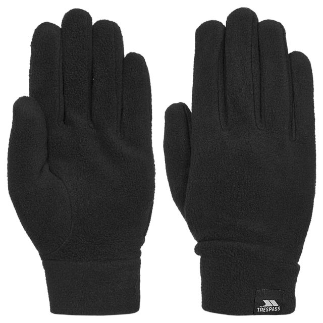 Gaunt II Unisex Fleece Gloves  in Black