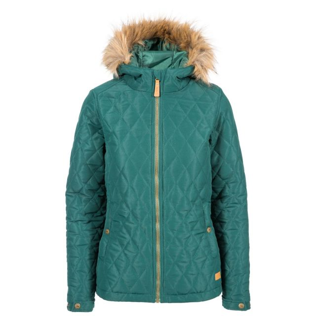 Genevieve Women's Padded Jacket in Green
