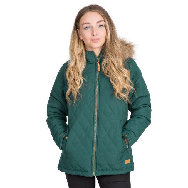 Trespass Womens Padded Jacket Genevieve in Green
