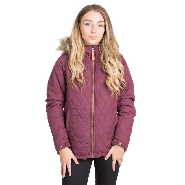 Genevieve Women's Padded Jacket in Purple