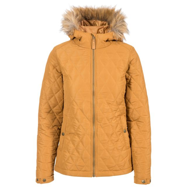 Genevieve Women's Padded Jacket in Beige