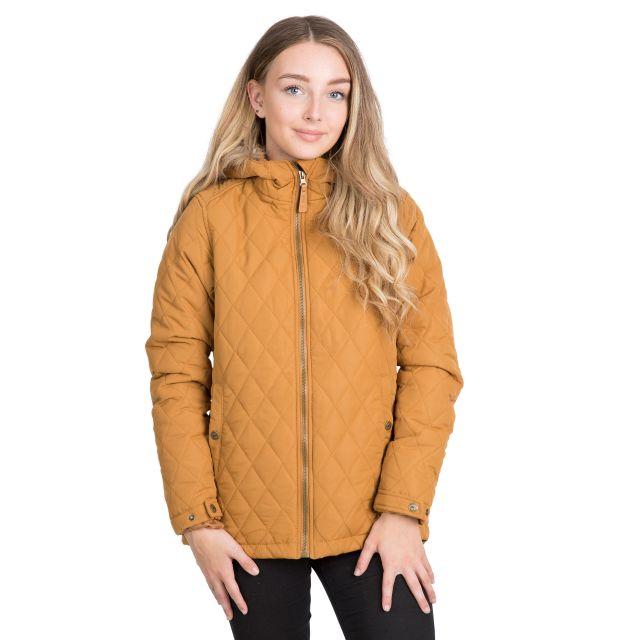 Trespass Womens Padded Jacket Genevieve in Beige