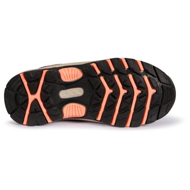 Trespass Kids Walking Shoes Waterproof Low Cut Gillon II Red