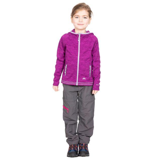 Trespass Kids Fleece Jacket with Hood Full Zip in Purple Goodness