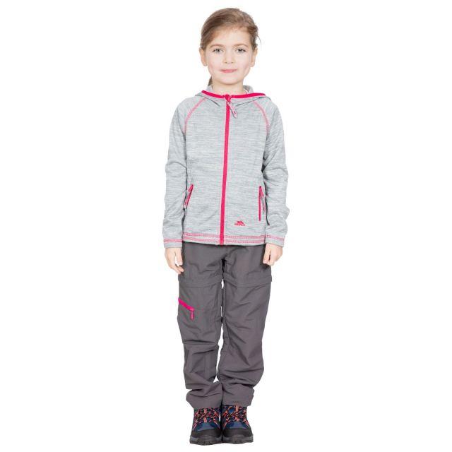 Trespass Kids Fleece Jacket with Hood Full Zip in Grey Goodness