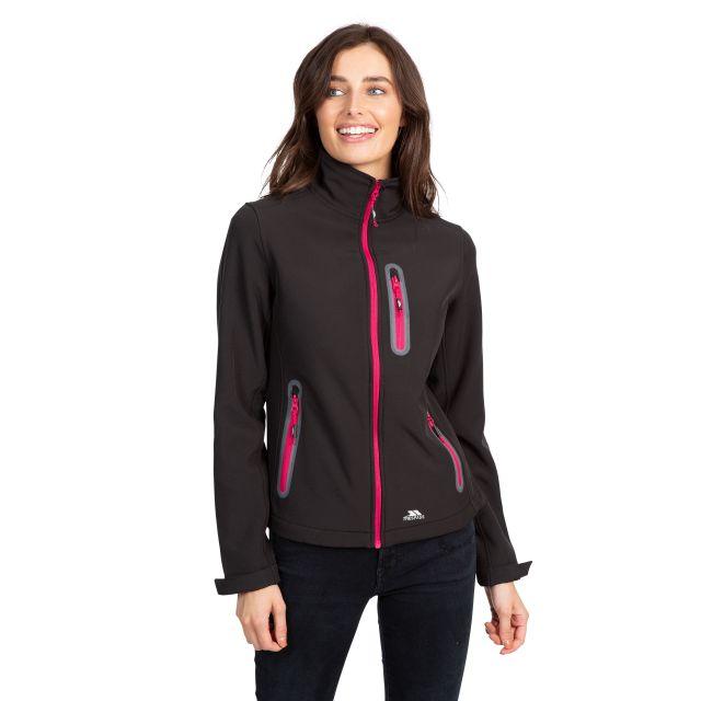 Trespass Womens Softshell Jacket Lightweight Hallie in Black