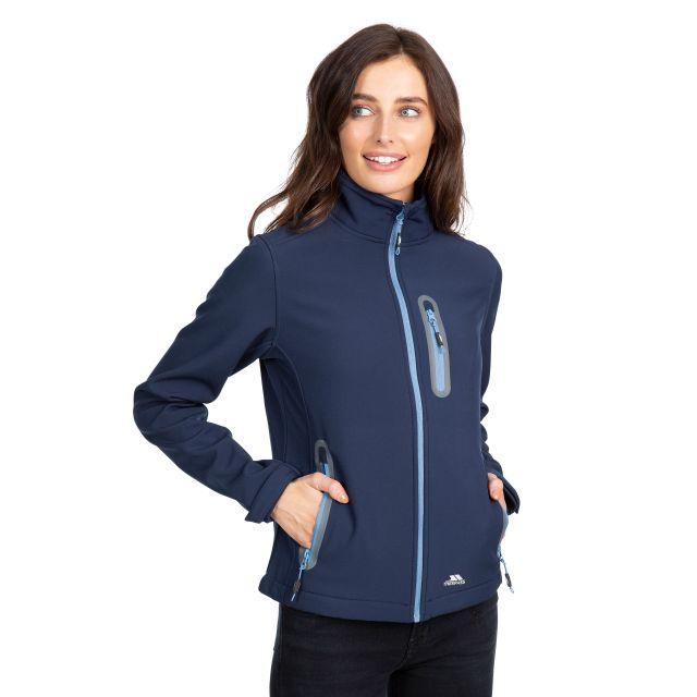 Trespass Womens Softshell Jacket Lightweight Hallie in Navy