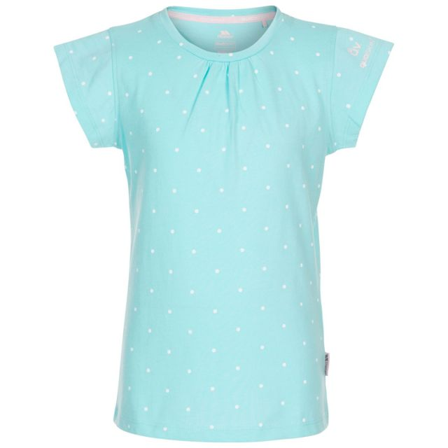 Trespass Kids' Quick Dry T-Shirt Harmony Spearmint, Front view on mannequin