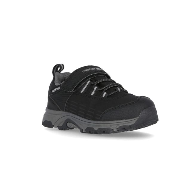 Harrelson Kids' Waterproof Walking Shoes in Black