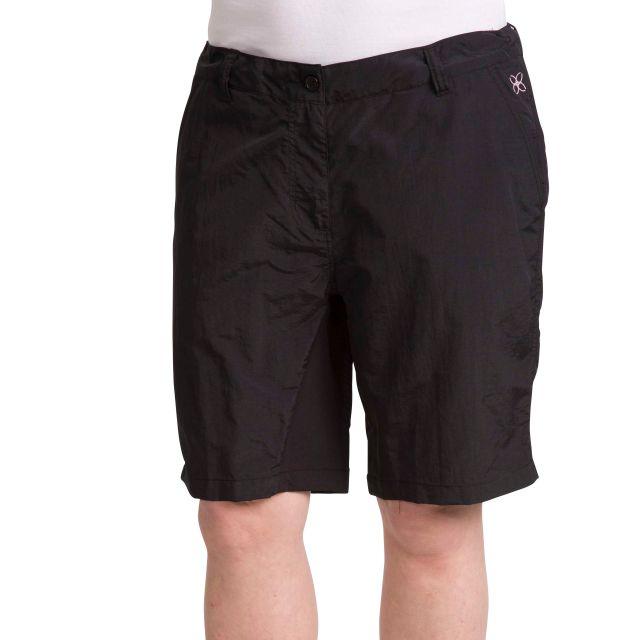 Hashtag Women's Quick Dry Trekking Shorts in Black