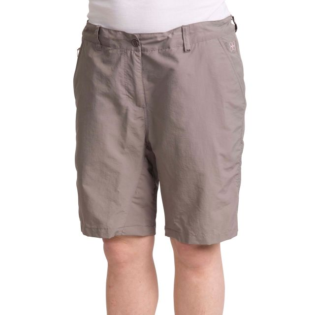 Hashtag Women's Quick Dry Trekking Shorts in Grey