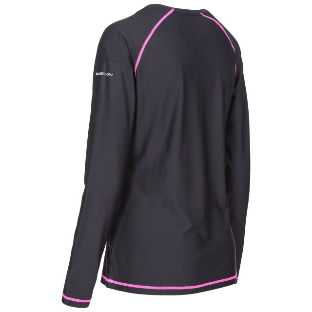Hasting Women's Quick Dry Long Sleeve T-Shirt in Black