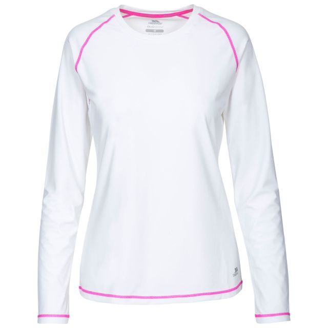 Hasting Women's Quick Dry Long Sleeve T-Shirt in White