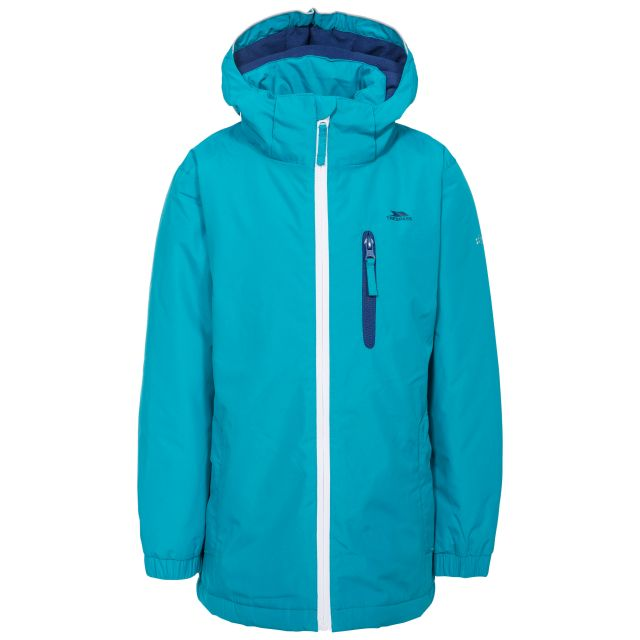 Heddar Kids' Padded Waterproof Jacket in Blue