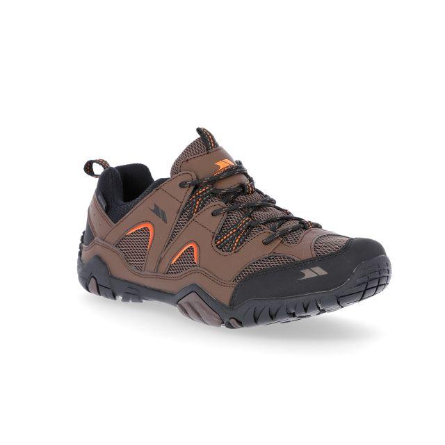 Helme II Men's Waterproof Walking Shoes in Brown