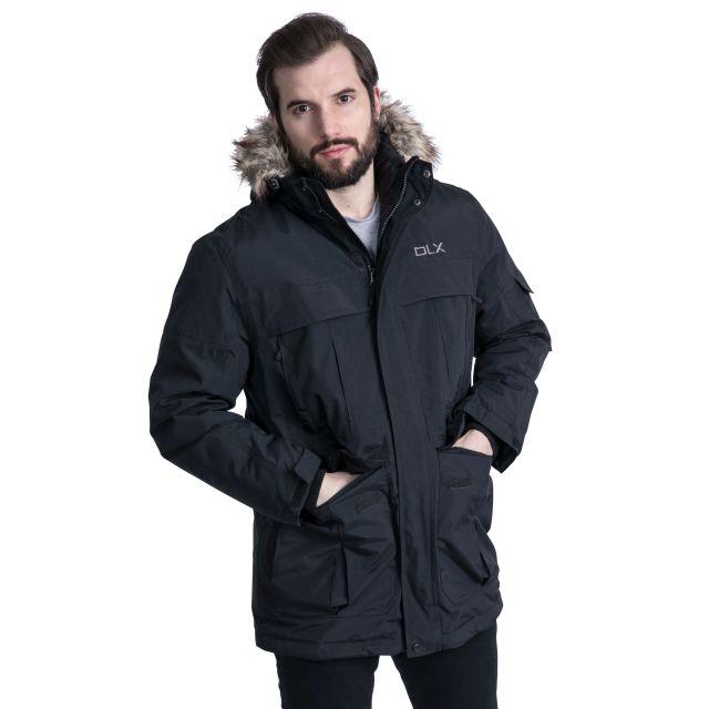 Highland Men's DLX Waterproof Down Parka Jacket in Black