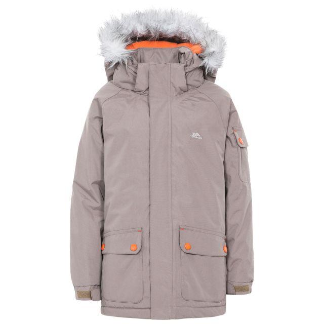 Holsey Boys' Waterproof Parka Jacket in Brown
