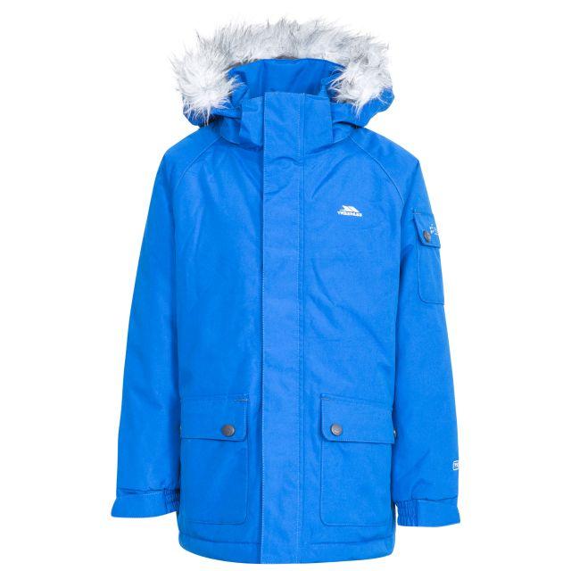 Holsey Boys' Waterproof Parka Jacket in Blue