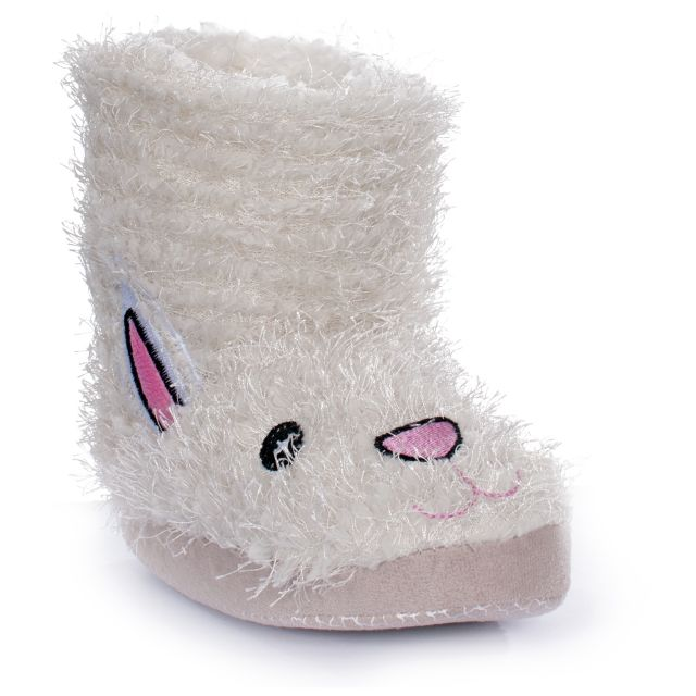 Hoppity Girls' Novelty Slippers in White