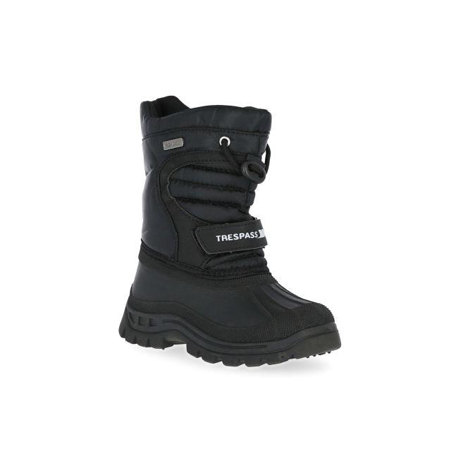 Huskie Kids' Waterproof Sole Snowboot in Black