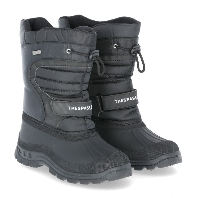 Huskie Youths' Snow Boots in Black