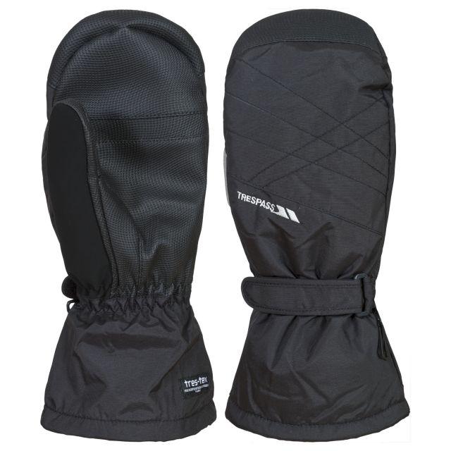Ikeda II Unisex Ski Mittens in Black