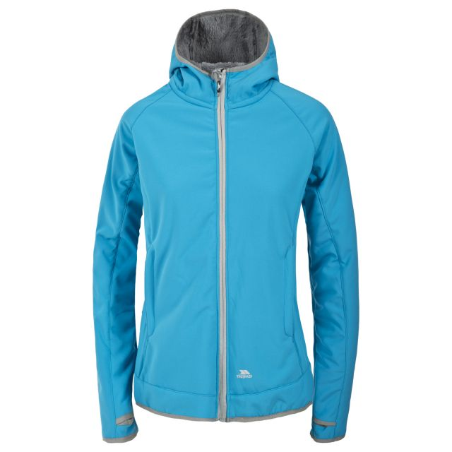 Trespass Womens Softshell Jacket Windproof Breathable Imani in Blue