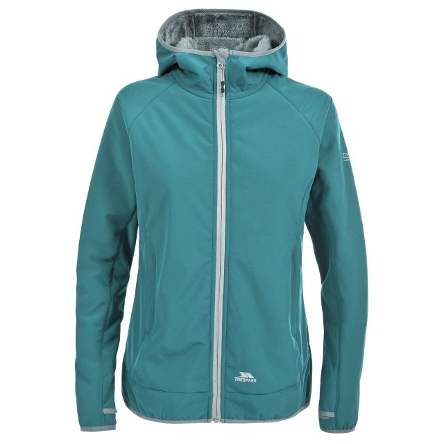 Trespass Womens Softshell Jacket Windproof Breathable Imani in Teal