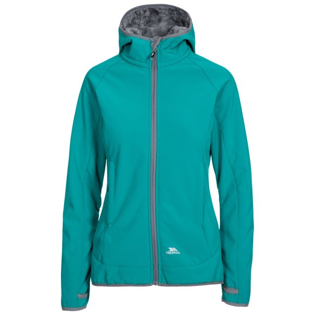 Imani Women's Windproof Breathable Softshell Jacket in Green