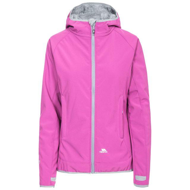 Imani Women's Windproof Breathable Softshell Jacket in Purple