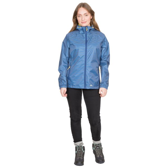 Indulge Women's Waterproof Packaway Jacket in Blue