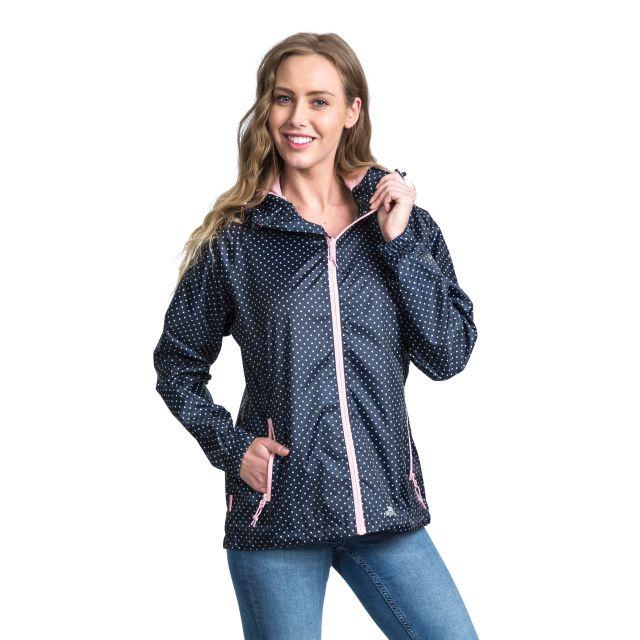 Trespass Womens Waterpoof Packaway Jacket Indulge in Navy