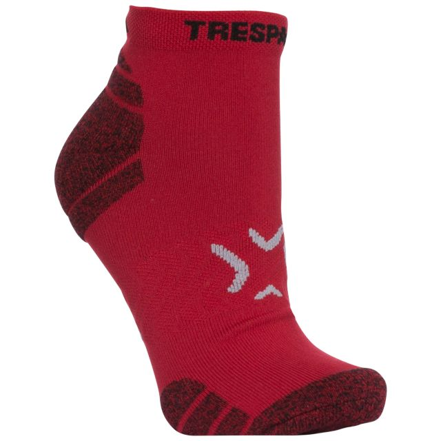 Ingrid Women's Non Slip Trainer Socks in Red